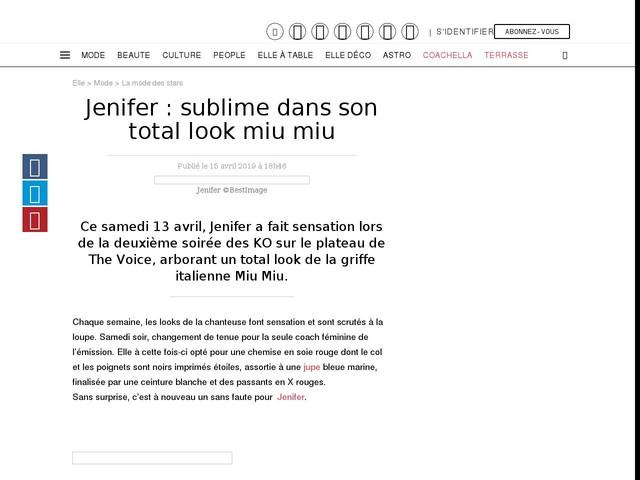 Jenifer : sublime dans son total look miu miu