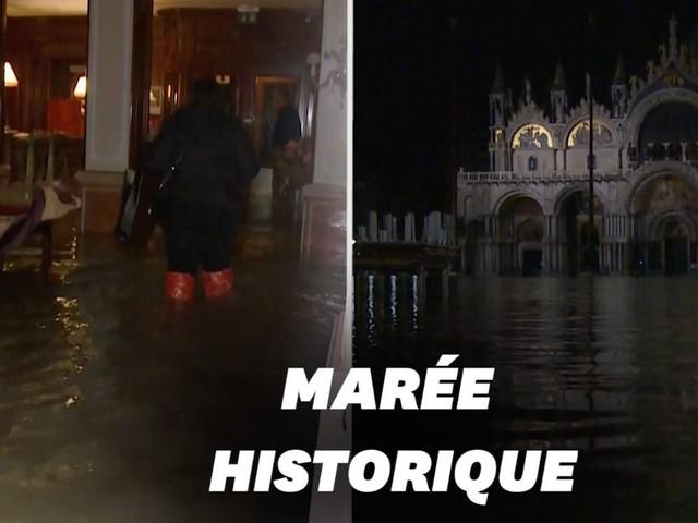 Venise submergée par la marée, les images des inondations