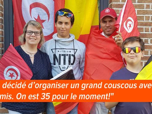 Quand Karim est venu vivre en Belgique avec Christel il y a 16 ans, la Tunisie affrontait déjà la Belgique à la Coupe du monde: comment vont-ils vivre le match ce samedi?