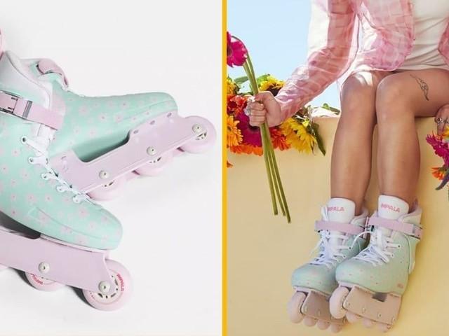 [TOPITRUC] Une paire de rollers impala fleuris, pour rider dans ta ville