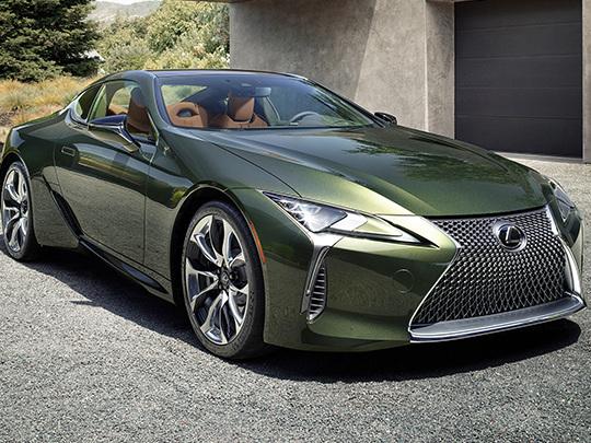 Coupé Lexus LC, un Vert Kaki métallisé pour une édition limitée
