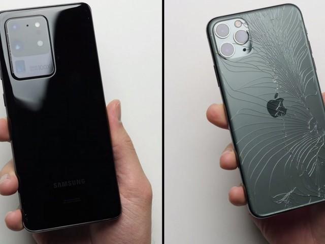Résistance aux chutes : l'iPhone 11 Pro Max a un peu de mal face au Galaxy S20 Ultra