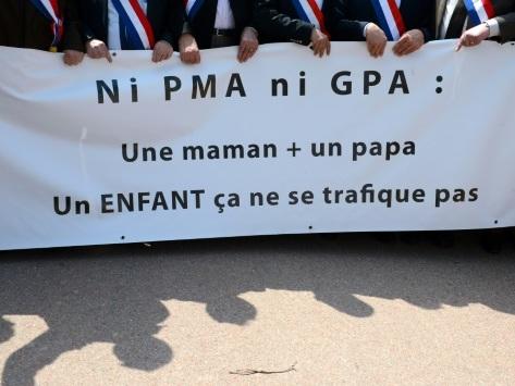 """""""Orphelins"""", """"marchandises"""": dans les manifestations, la bataille réthorique des anti-PMA"""