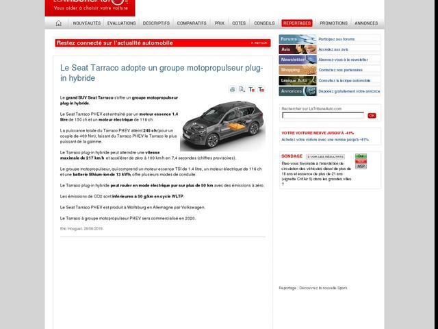 Le Seat Tarraco adopte un groupe motopropulseur plug-in hybride