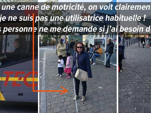 """MALVOYANTE, Isabel raconte ses déplacements en bus à Liège: """"C'est la galère tous les jours, tous les jours!"""""""