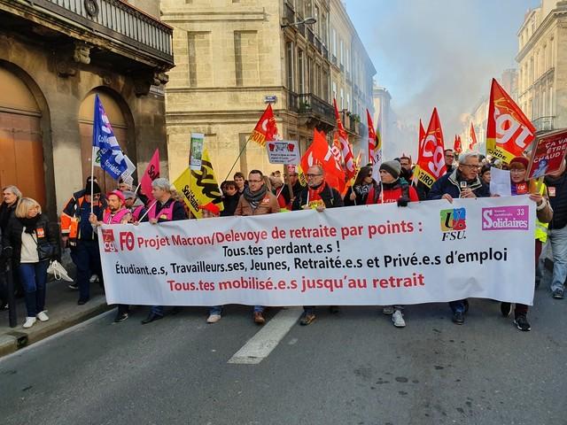 Bordeaux : une manifestation contre la réforme des retraites est prévue ce mardi