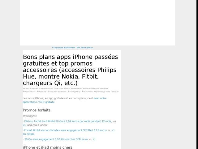 Bons plans apps iPhone passées gratuites et top promos accessoires (accessoires Philips Hue, montre Nokia, Fitbit, chargeurs Qi, etc.)
