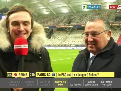 Foot - C. Ligue - Jean-Pierre Caillot, avant Reims-PSG: «Nous allons essayer de créer l'exploit»