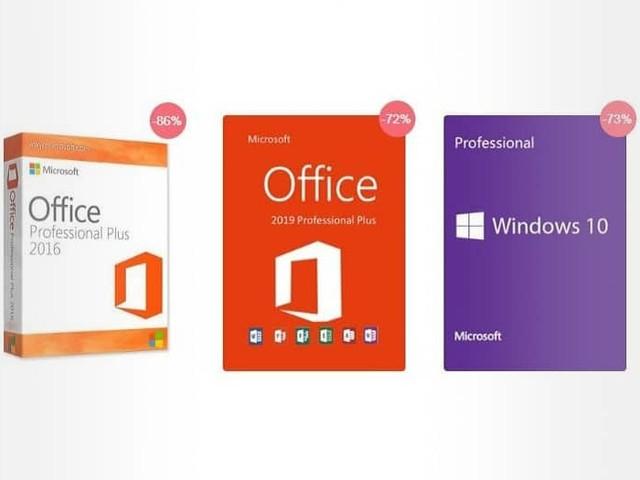 Promo URcdkey : clé de licence pour Windows 10 Pro à 10.39€ et Office 2019 Pro Plus à 47.19€