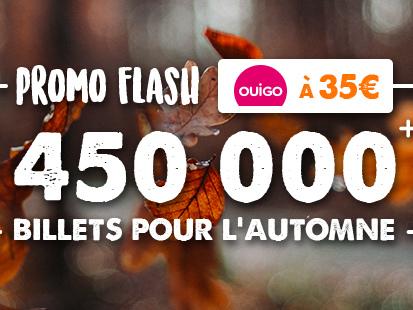 OUIGO : 450 000 billets à 35€ ou moins pour voyager jusqu'à mi-décembre
