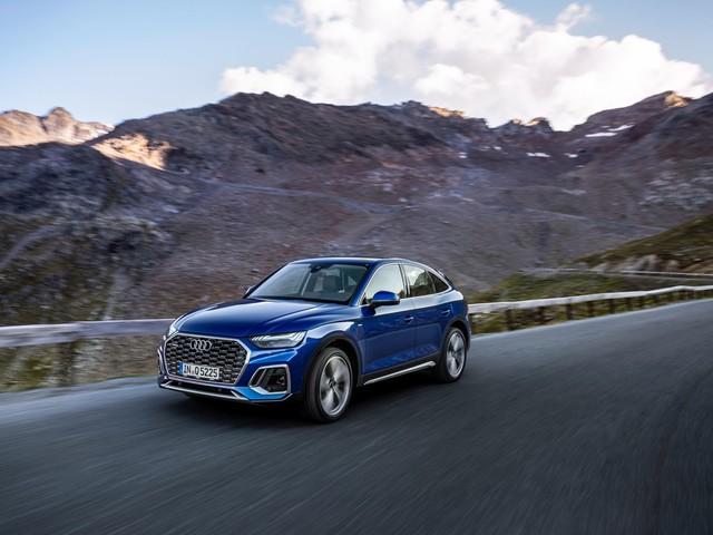 Audi Q5 Sportback (2021) : les photos du rival des BMW X4 et Mercees GLC Coupé