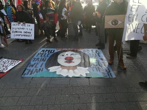 Deux cents manifestants sud-américains manifestent à Bruxelles contre le néolibéralisme