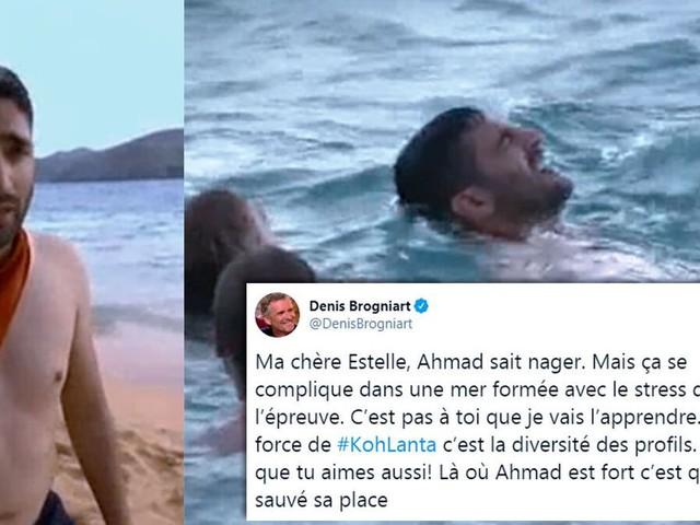 """Après """"Koh-Lanta"""", Denis Brogniart vole au secours d'Ahmad, qui """"sait nager"""""""