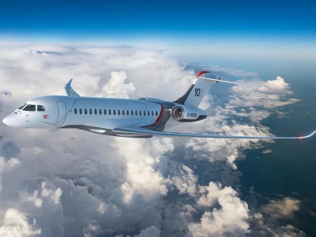 Dassault Aviation lance le Falcon 10X, «l'avion d'affaires le plus spacieux»