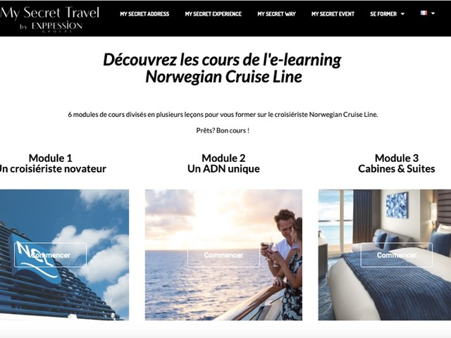 Norwegian Cruise Line propose son premier e-learning en français