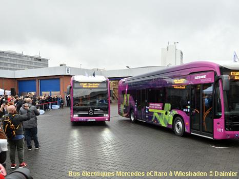 Wiesbaden commence à exploiter ses bus électriques Mercedes eCitaro