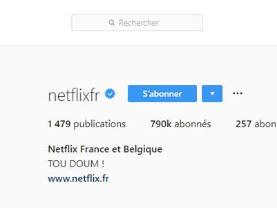 Netflix facilite le partage des contenus en Stories sur Instagram