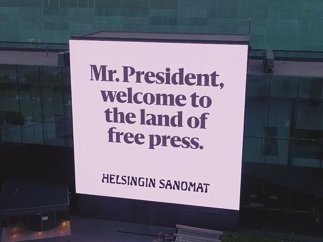 L'accueil très spécial de Trump et Poutine en Finlande