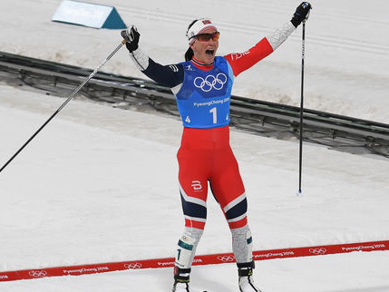 La Norvégienne Björgen rejoint son compatriote Björndalen comme athlète le plus médaillé des JO d'hiver