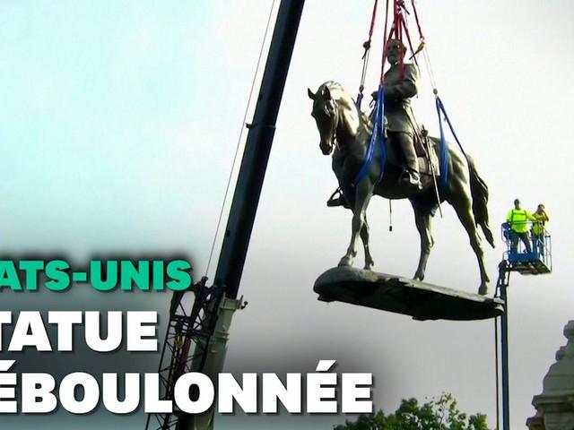 Aux États-Unis, un statue symbole du passé esclavagiste déboulonnée