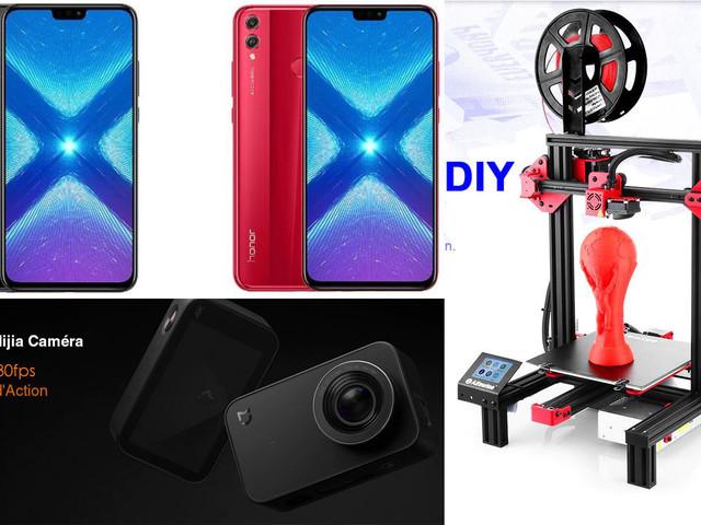 Bonnes affaires : Honor 8X, Xiaomi Mijia Mini Caméra 4K et Alfawise u30 pour imprimer vos objets en 3D