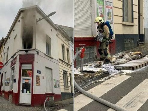 """Incendie à Saint-Josse: """"Deux véhicules mal garés ont gêné les secours, heureusement que le bâtiment était vide"""""""
