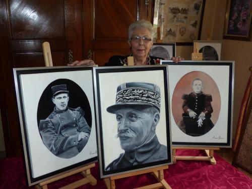 Trois portraits peints par une péronnaise partent dans la clairière de l'Armistice