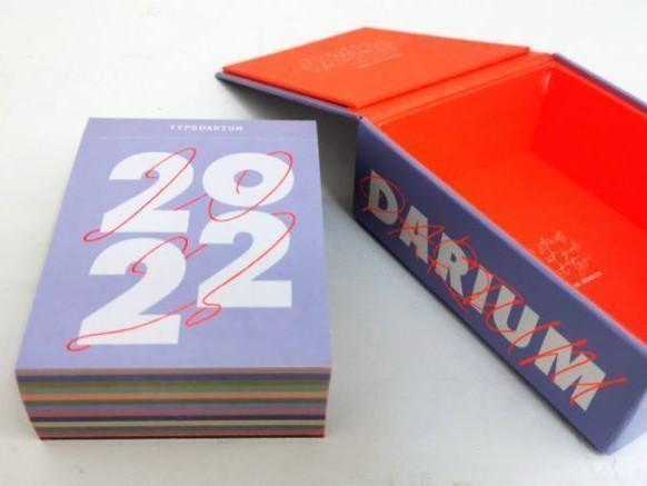 Avec le calendrier Typodarium 2022, c'est 365 jours d'inspiration typographique !