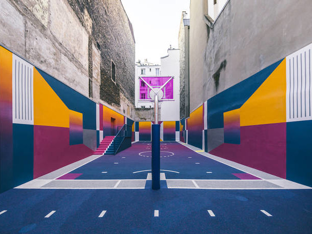 New Basketball Court by Pigalle with Nike
