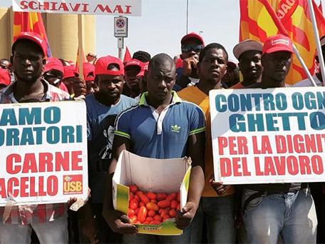 Italie. La marche des «casquettes rouges» contre l'exploitation
