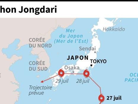 Japon: un typhon se dirige vers la région déjà dévastée début juillet