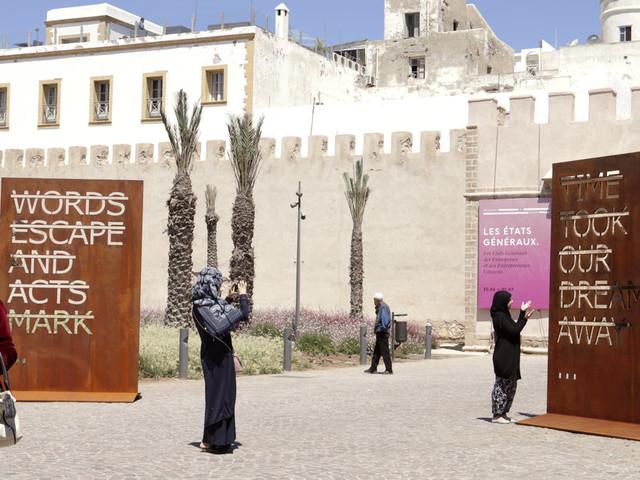 Les artistes Rero, Sam Baron et JR invitent au rêve dans la médina d'Essaouira