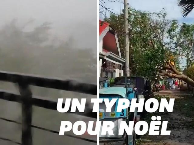 Aux Philippines, la soirée de Noël gâchée par un violent typhon