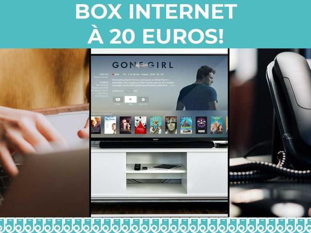 Deux box avec internet, la télévision et le téléphone à 20€ chez SFR et Free !