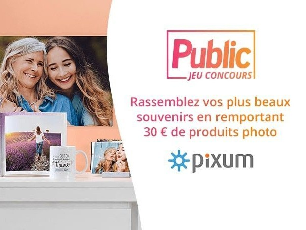 Jeu Concours : Tentez de remporter 35 bons d'achat à valoir sur le site Pixum.fr