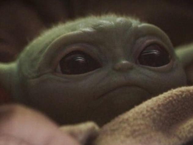 Internet fond pour le Bébé Yoda de « The Mandalorian»