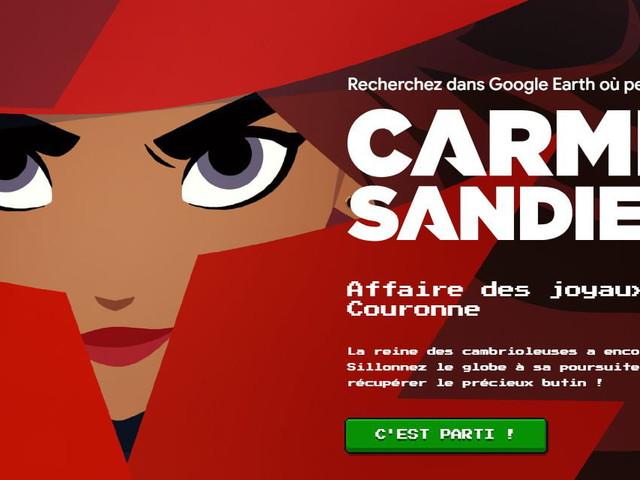 Un jeu de piste avec Carmen Sandiego… sur Google Earth