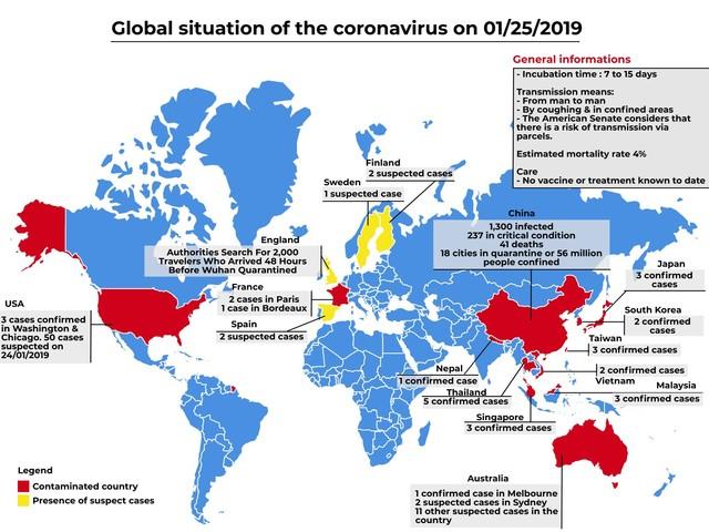 Coronavirus : 3 cas cas détectés en France, l'épidémie se développe en Chine
