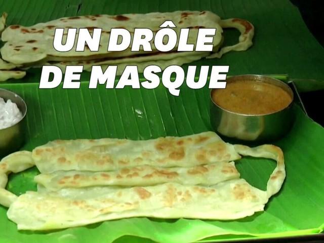Porter un masque ou le manger, le dilemme proposé par ce restaurateur indien