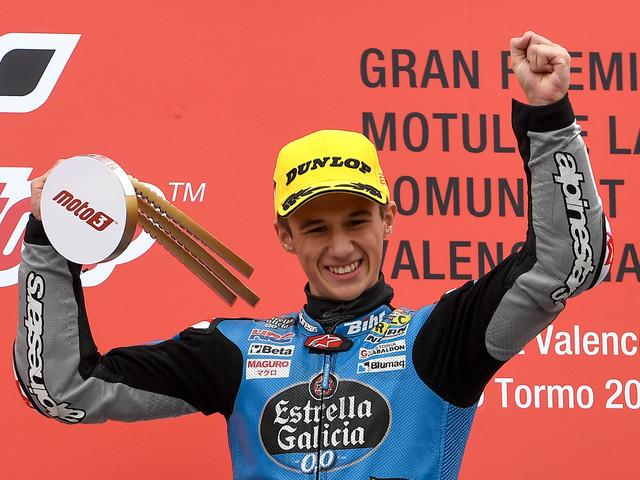 Moto3: A Valence, l'Espagnol Sergio Garcia remporte sa première victoire