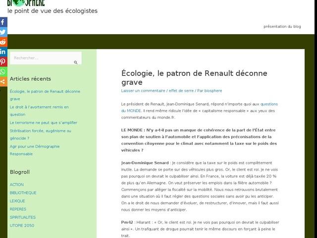 Écologie, le patron de Renault déconne grave