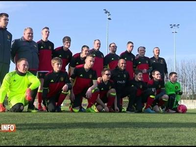 Sélection de 44 joueurs de foot belges atteints de handicap mental