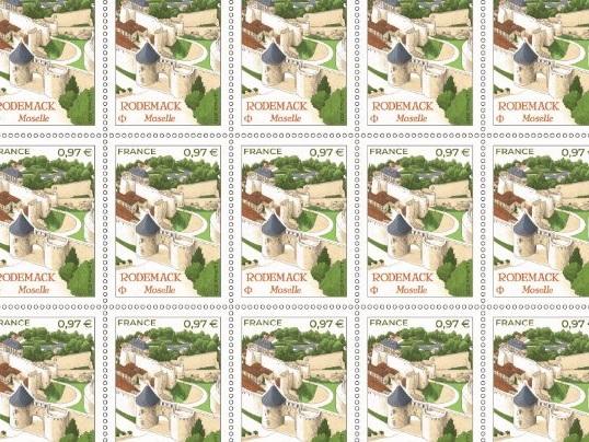 """Rodemack : plus de 600 000 timbres émis par La Poste pour honorer la """" petite Carcassonne lorraine """""""