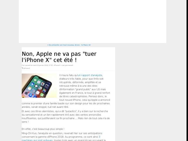 """Non, Apple ne va pas """"tuer l'iPhone X"""" cet été !"""