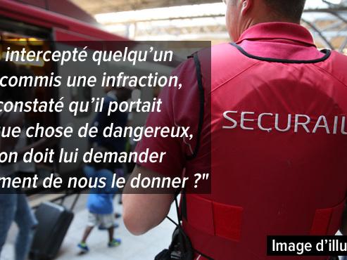 """Un agent Securail témoigne: """"Si on trouve une arme sur quelqu'un, on ne peut pas la prendre"""""""