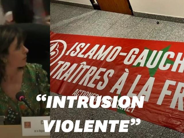 Intrusion de l'Action française au Conseil régional d'Occitanie