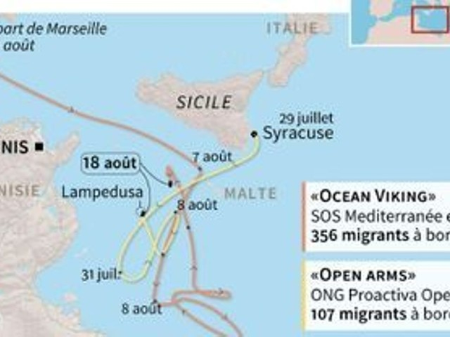 L'ONG Proactiva Open Arms rejette l'offre de Madrid d'accueillir son navire