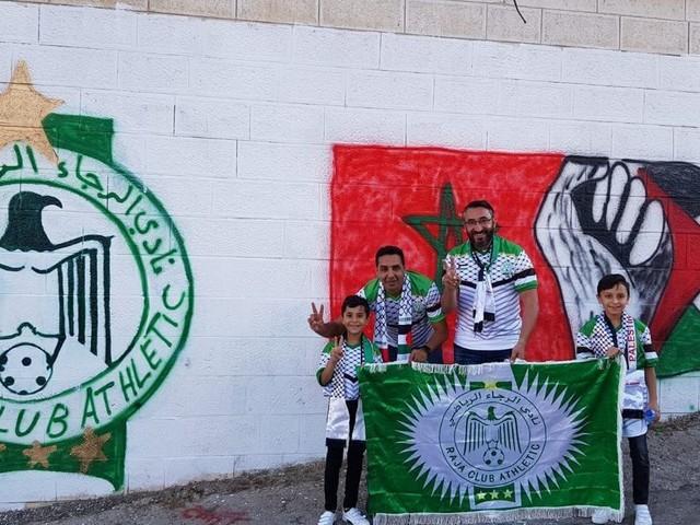 Football: Comment les supporters rajaouis ont vécu leur arrivée en Palestine