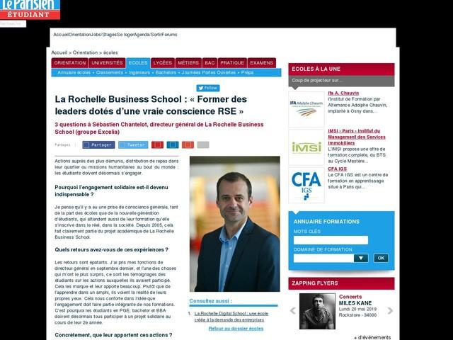 La Rochelle Business School : « Former des leaders dotés d'une vraie conscience RSE »