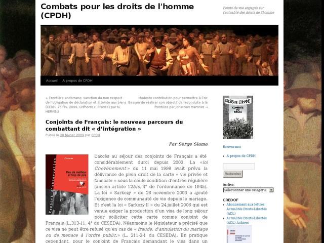 Commentaires sur Conjoints de Français: le nouveau parcours du combattant dit «d'intégration» par Morales patricia